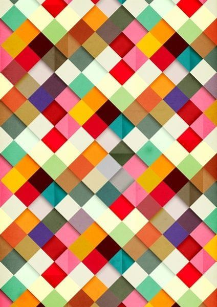 Multicolor woven colored paper.