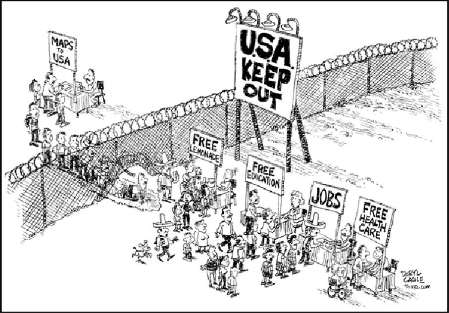 satirical essays on illegal immigration The same study estimates that if a 2007 immigration reform bill had passed, legalizing 12 million undocumented immigrants, it would have generated $48 billion in federal revenue from 2008-2017 5.