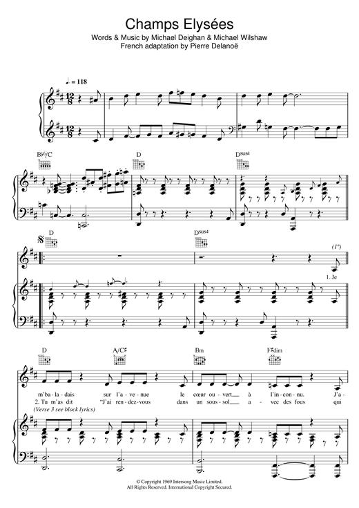 Zaz Champs Elysées Partition Piano Partitions Clarinette Partition Musicale
