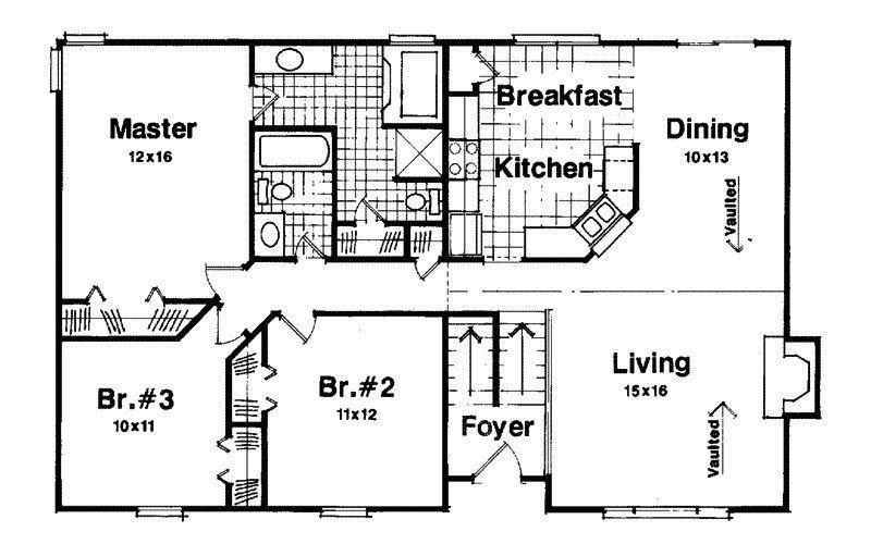 Image Result For Split Entry Floor Plan Split Level Floor Plans Split Foyer Split Level House Plans