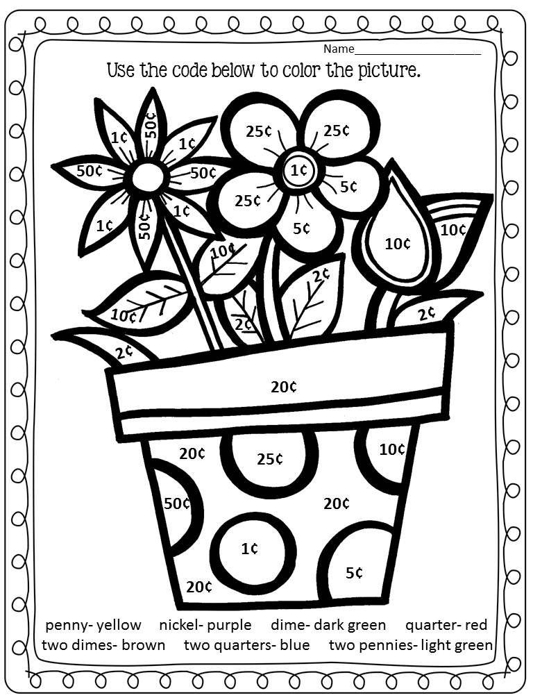 Spring Worksheets Math Coloring Worksheets Math Addition