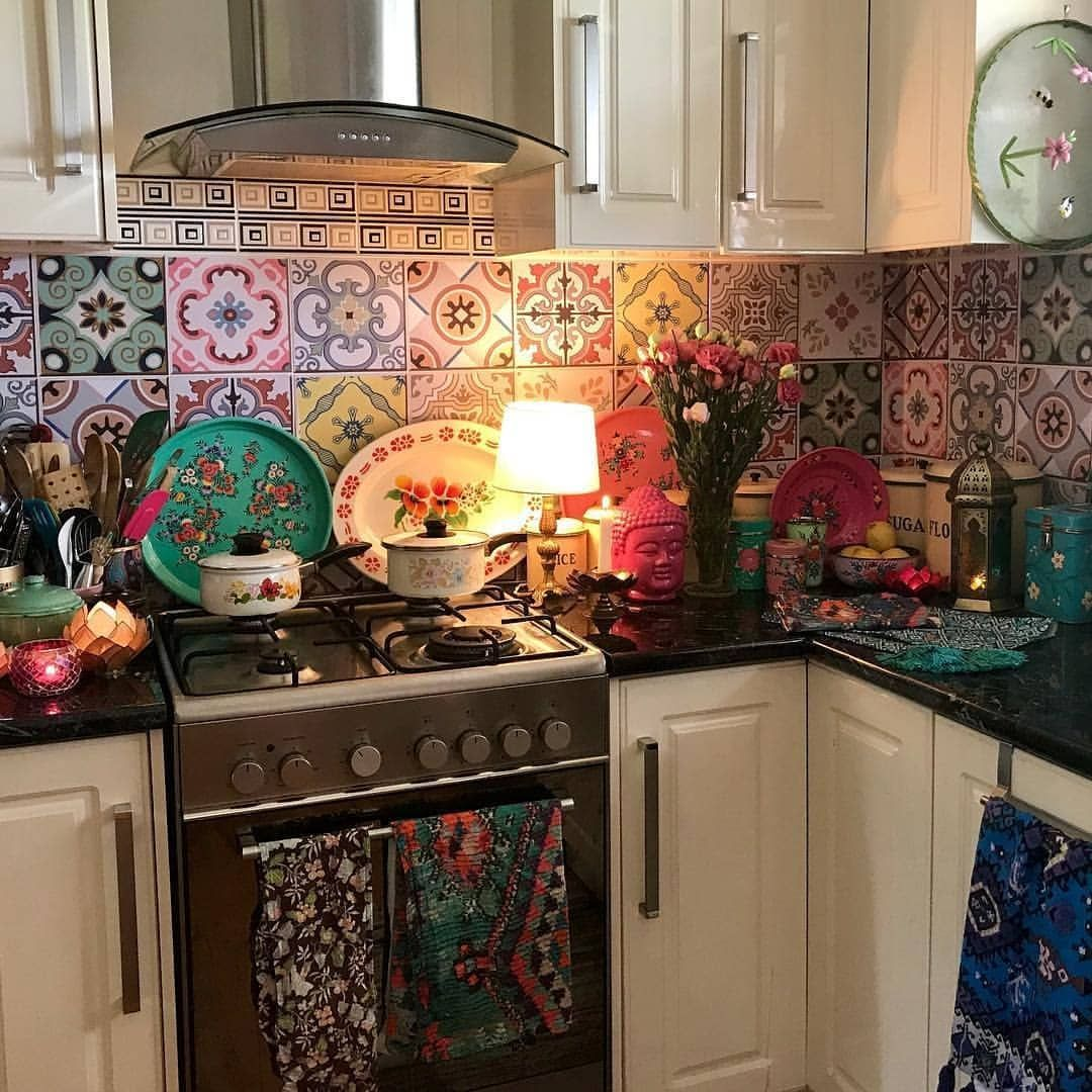 love those tiles they re on the to do list now alexandrafelgate bohemian on kitchen decor hippie id=90410
