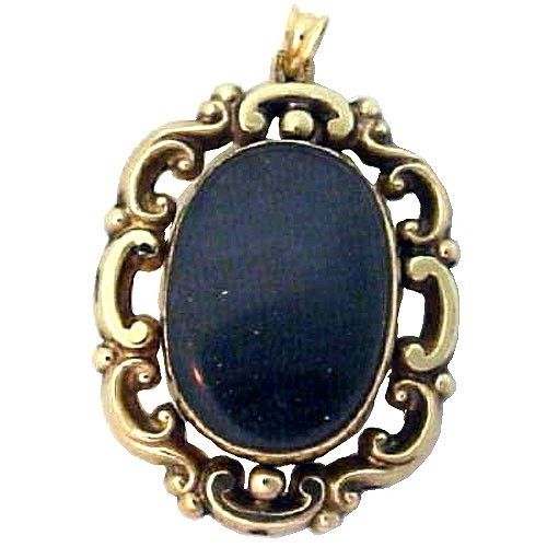 Victorian Gold Fob Locket Victorian Gold Pendant Jewelry Jewelry