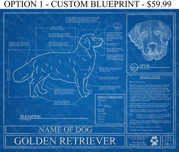 Personalized golden retriever blueprint golden retriever art personalized golden retriever blueprint golden retriever art golden retriever wall art golden retriever malvernweather Gallery