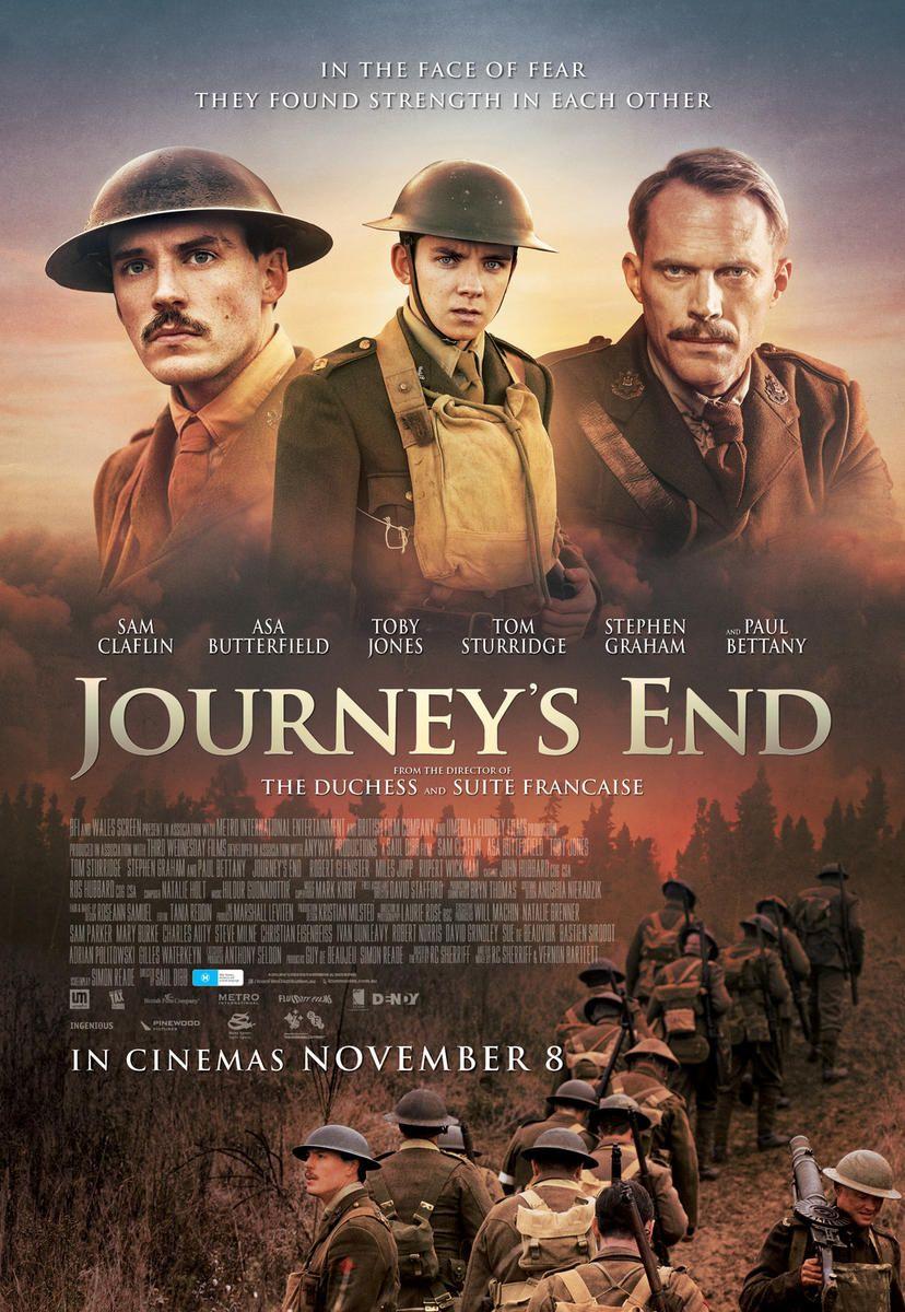 Das Kriegsdrama Journey S End Hat Ein Erstes Poster Die Besten Horrorfilme Alte Filme Disney Filme Liste
