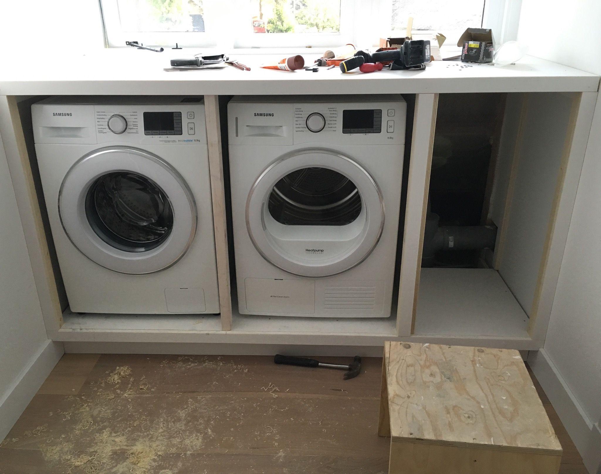 Wasmachine ombouw badkamer pinterest zolder kleine for Ingebouwd zwembad zelf maken