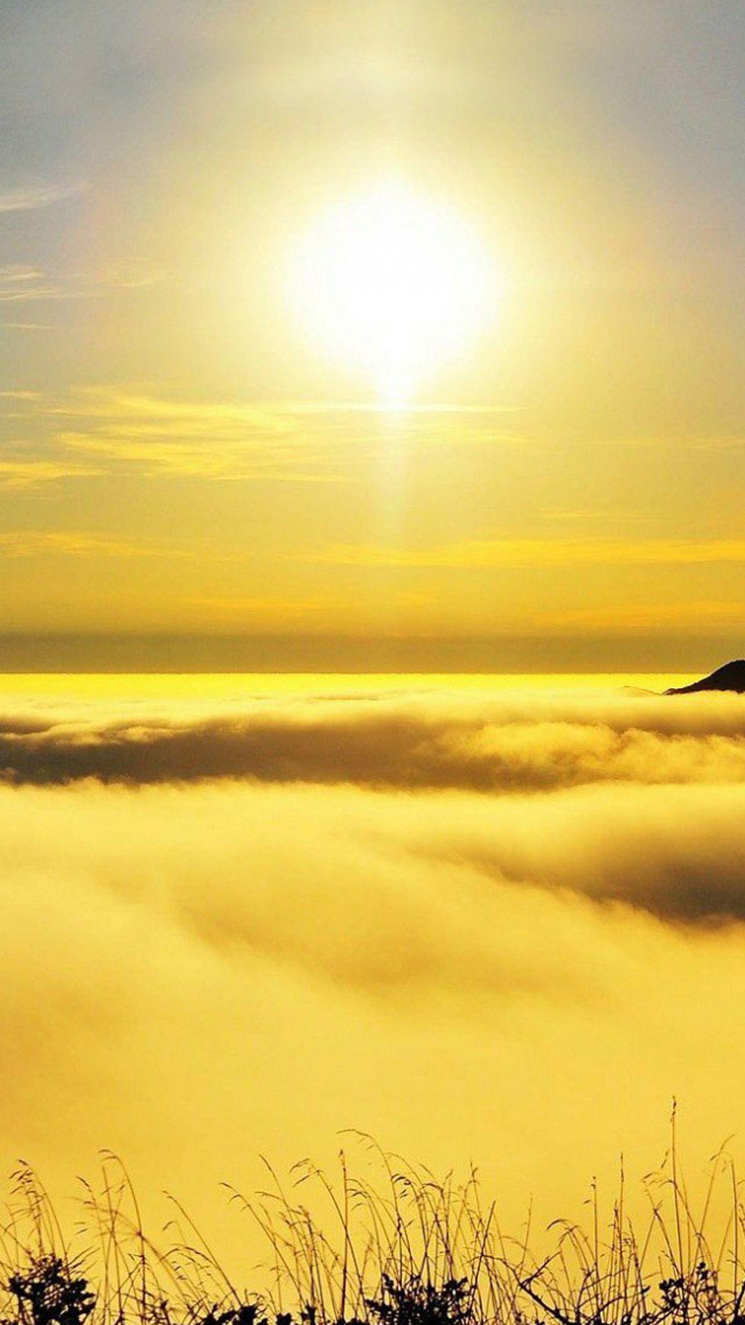 Sky Nature Yellow Horizon Atmospheric Phenomenon Sunrise In 2020 Sunset Iphone Wallpaper Sunset Landscape Landscape