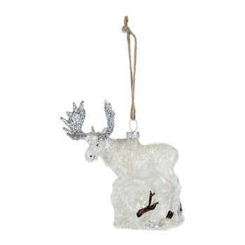 Great North Moose Christmas Tree Decoration - White Holidays