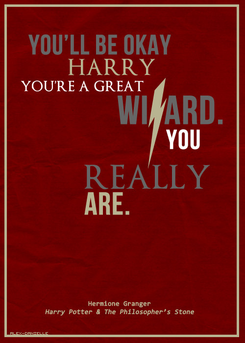 You're a great wizard.
