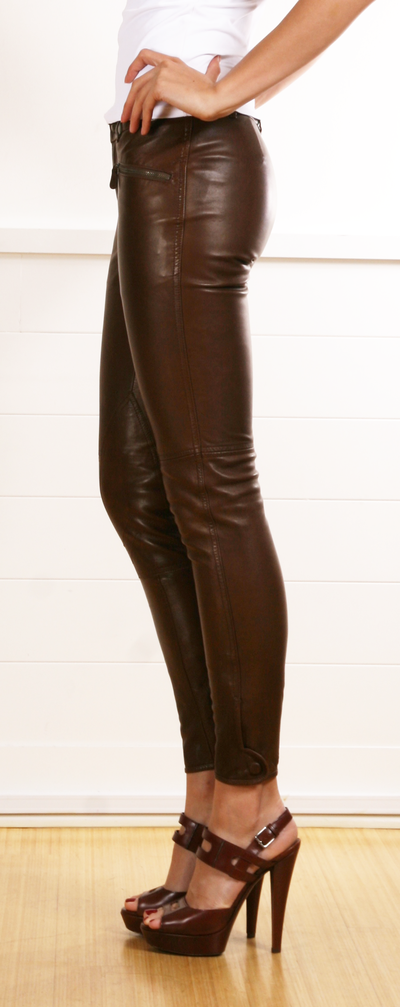 great quality new photos exquisite craftsmanship The series brown leather pants! Yes Ralph Lauren! | clothes ...