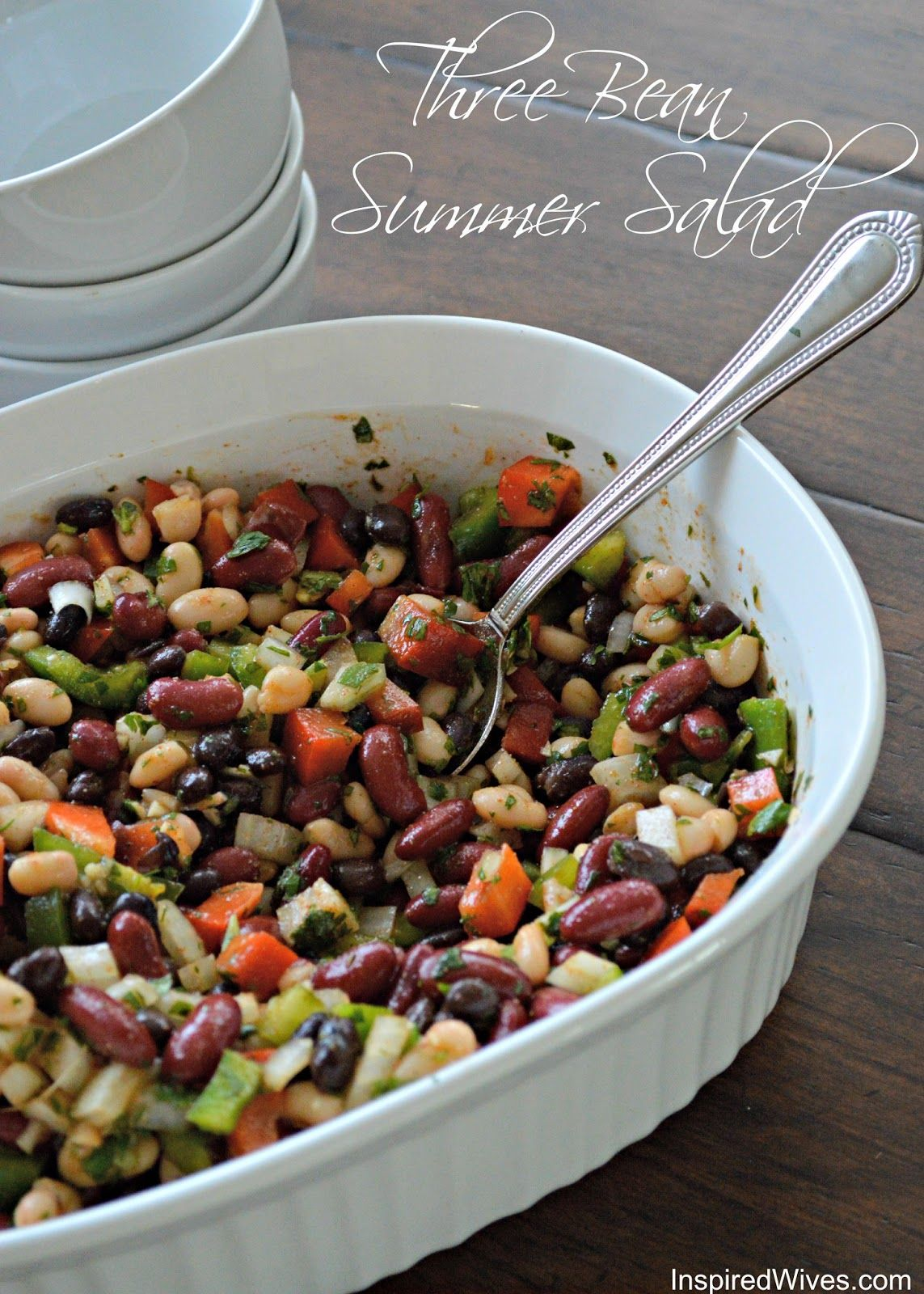 Three Bean Salad Perfect For Summer Nights And Barbecues Summer Salads Bean Recipes Veggie Dishes