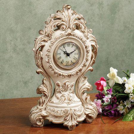 Josephine Table Clock Light Cream
