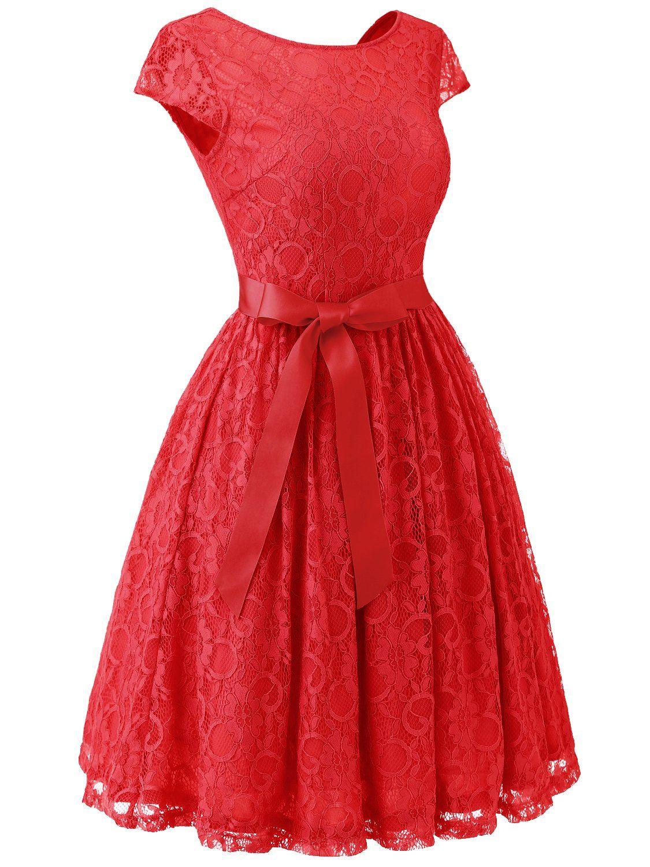 Ivnis rs womens vintage lace v back bridesmaid party dress