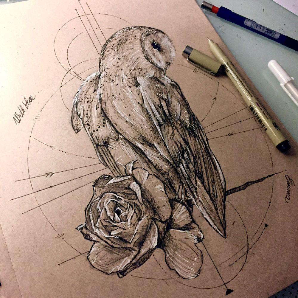 Owl Design Tattoos Piercings Tatto