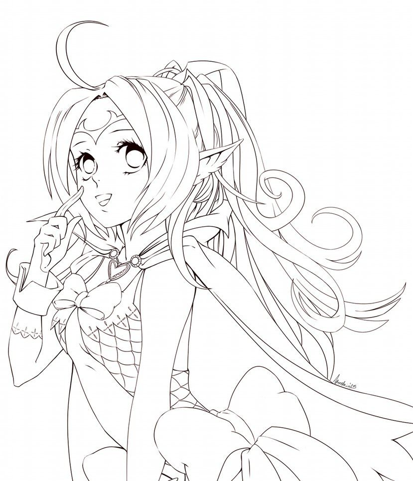 anime coloring pages deviantart outgoing - photo#12