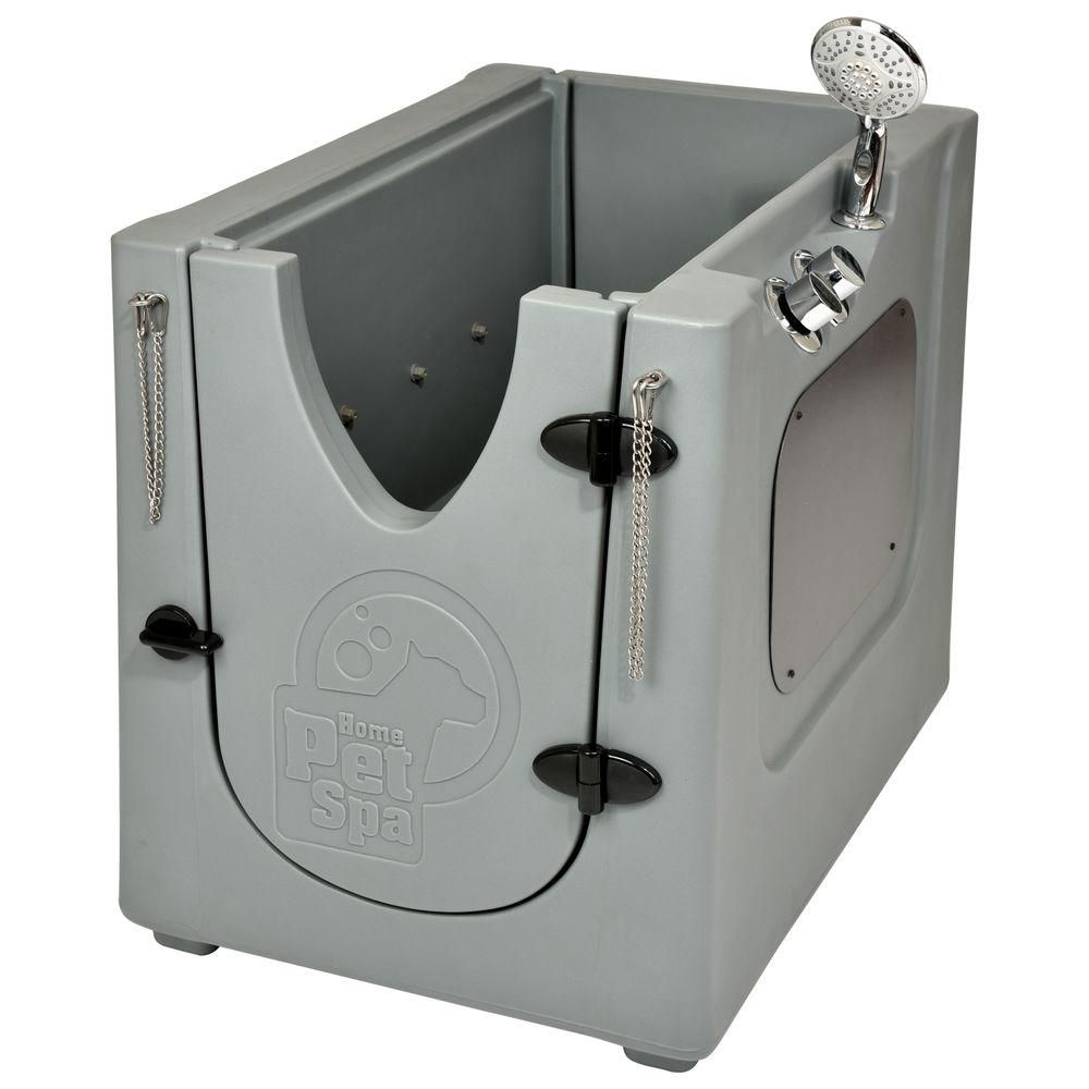 Home Pet Spa 35 In X 24 7 In Pet Shower And Grooming Enclosure