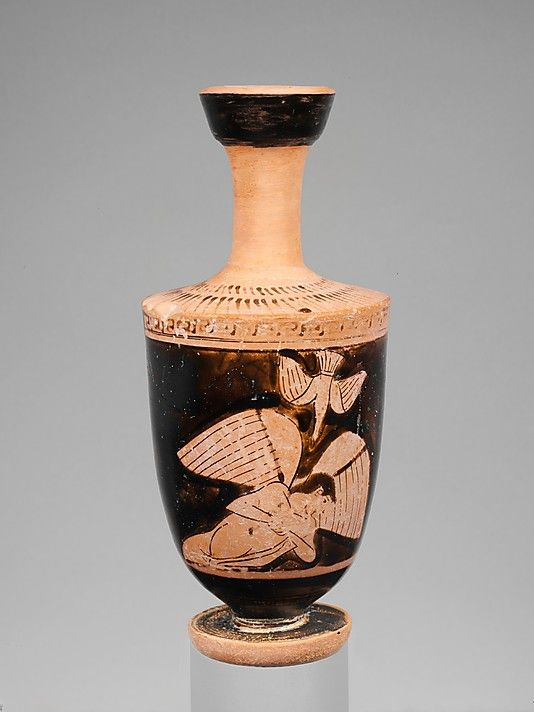 Terracotta Lekythos Oil Flask Attributed To The Icarus Painter