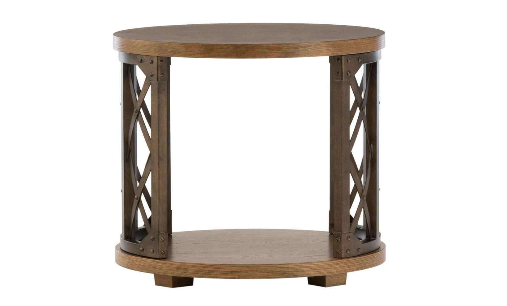 Metalworks Round End Table | Living room sofa, Open shelves and Rounding