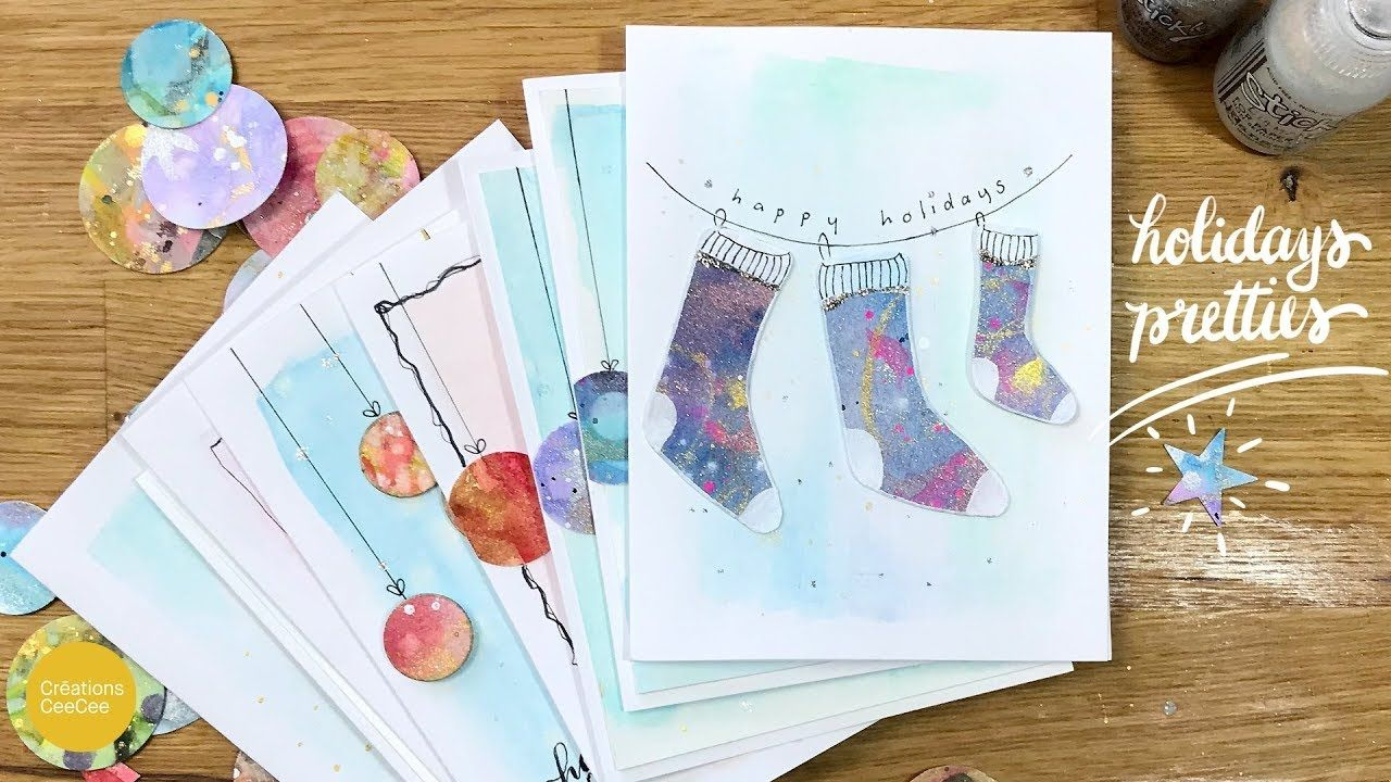 how to recycle watercolor paintings quick & easy holiday