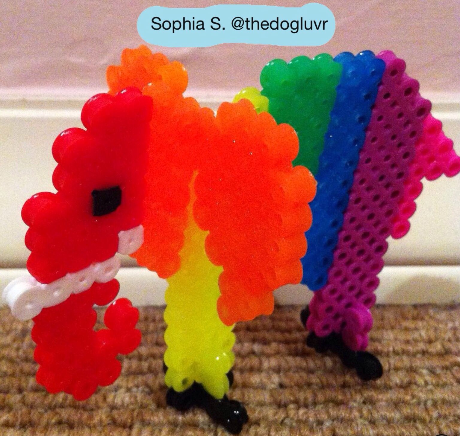 Perler Beads - 3D Elephant by Sophia S.
