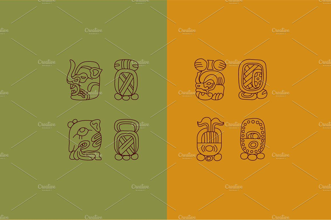 13 HISTORIC ICONS OF MAYA icon, flaticon, icons, icon pack
