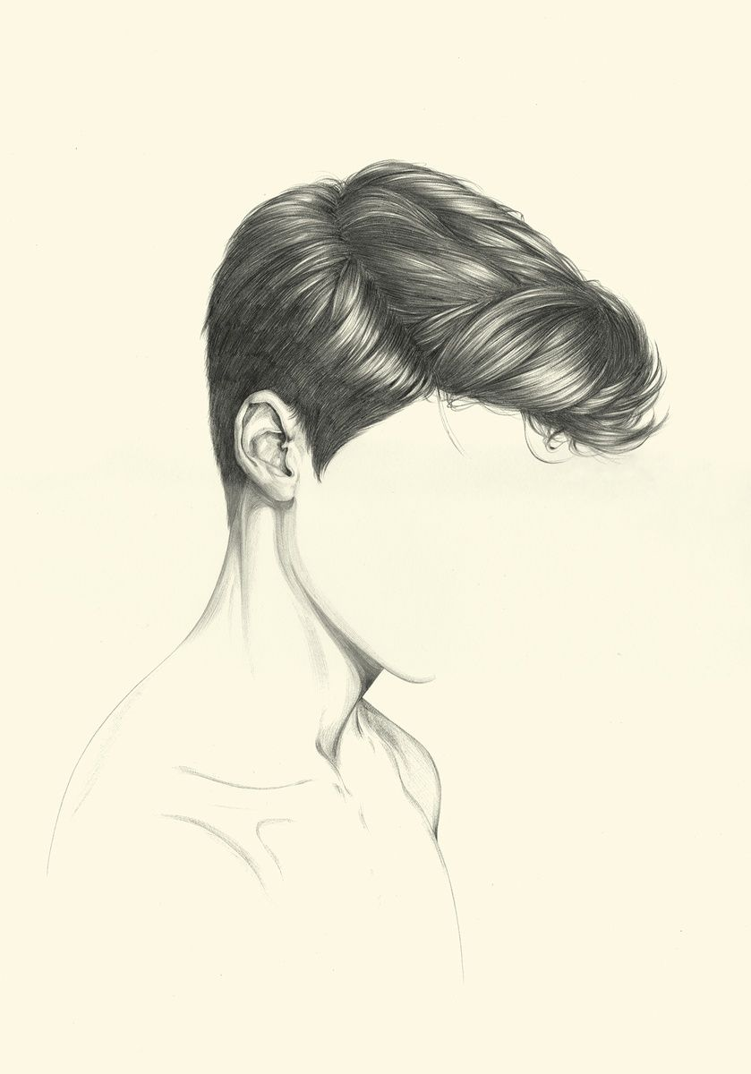Melanie roger gallery summer paper round realistic hair drawing boy hair drawing hair