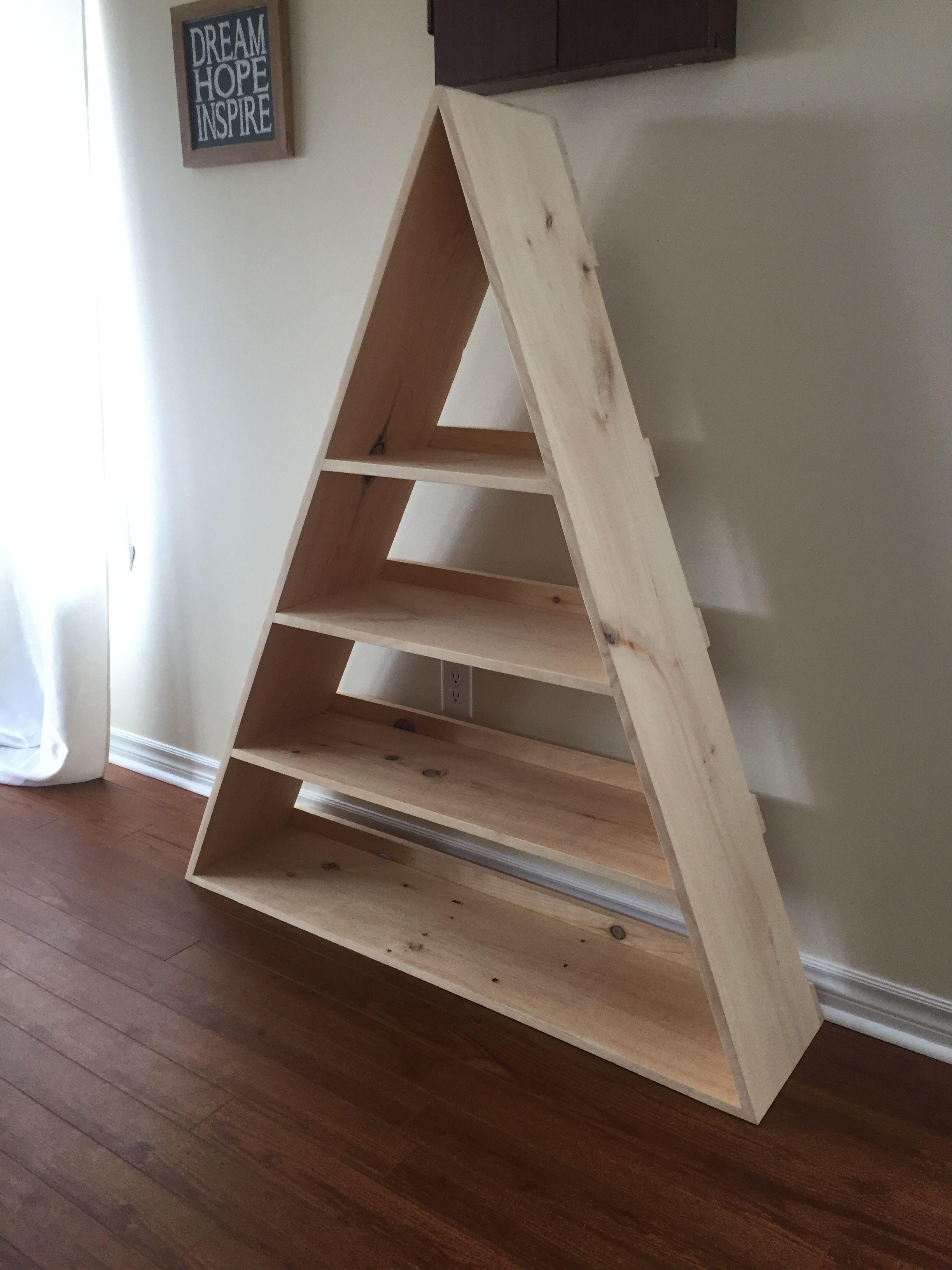 Triangle Book Shelf So Beautiful Bookshelf Decor Room Redo