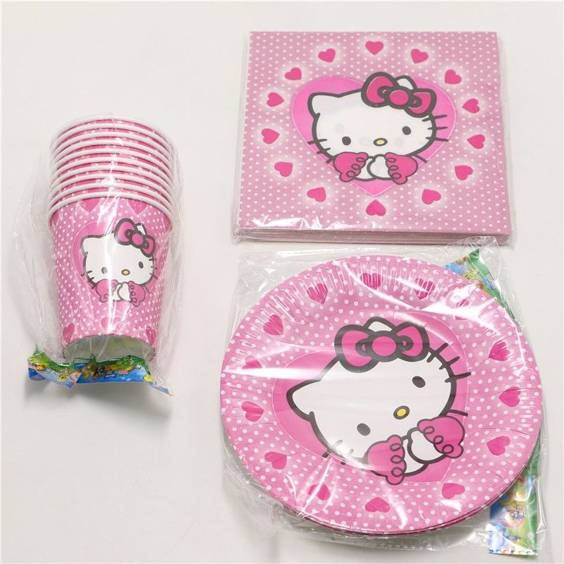60pcs\\lot Baby Shower Tissues Kids Favors Paper Plates Cups Hello ...