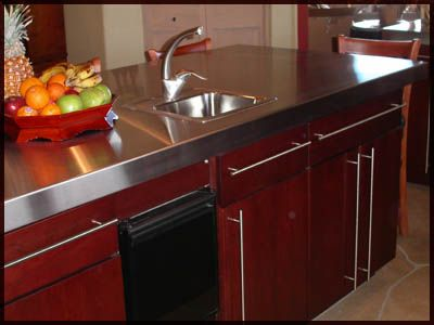 Ordinaire Nice Stainless Steel Counter Top. Stainless Steel Counter Tops Are Durable  And Easy To Clean