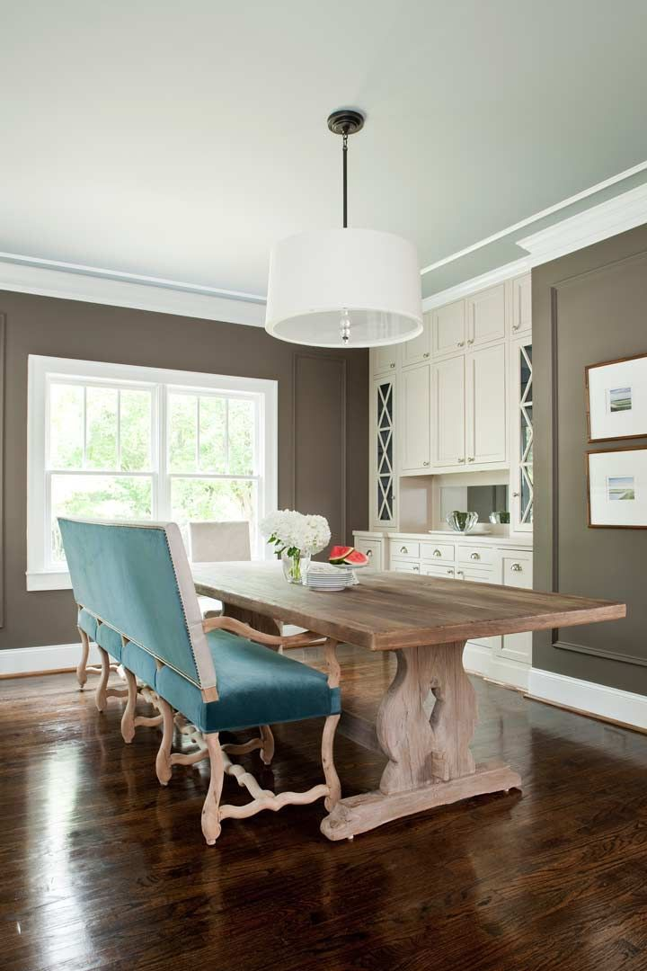 turquoise white brown dining | Dining room remodel, Dining ...