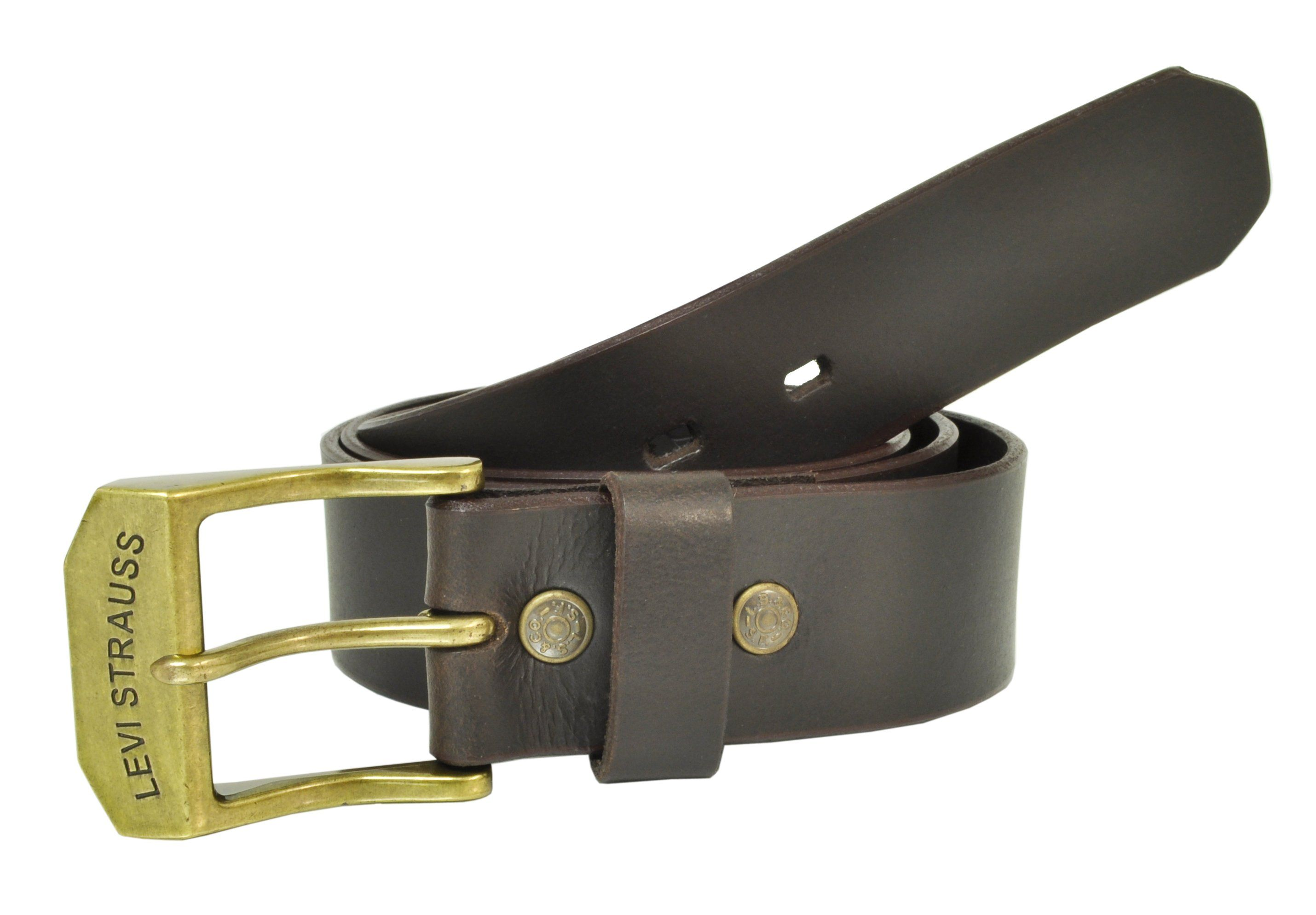 Levis Men S Leather 1 1 2 Inch Beveled Edge Bridle Belt