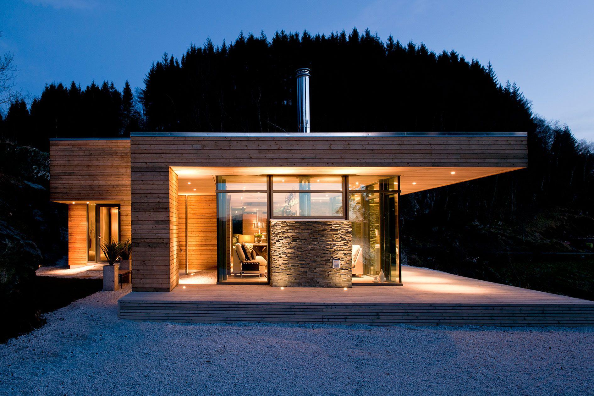 Minimalist Cabin exterior modern lake house architecture riverview gardens facade
