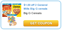 1 00 Off 2 General Mills Big G Cereals Printable Coupons Coupons Print Grocery Coupons