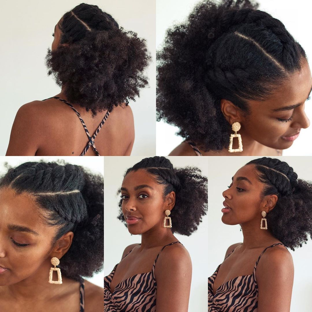 Kinkyhairrocks Com On Instagram Such A Cute And Simple Hairstyle Curlbellaa Natural Afro Hairstyles Natural Hair Styles Easy Medium Hair Styles