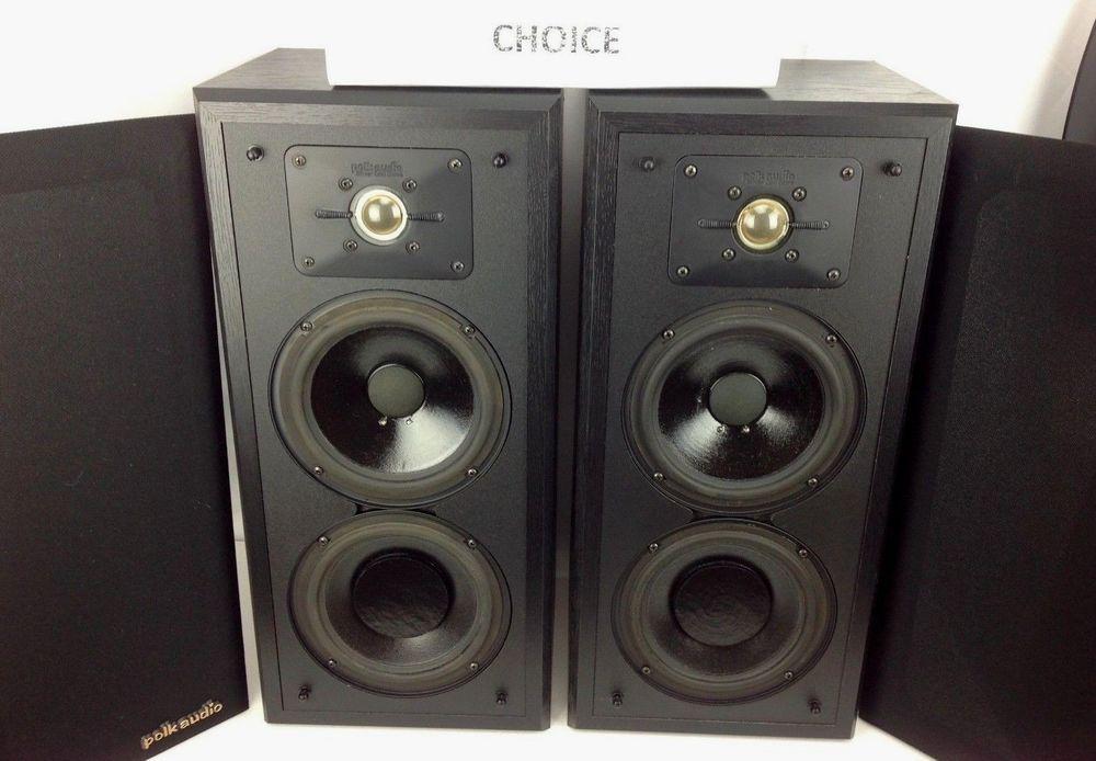 Polk Audio 5 Jr Monitor Series One Speaker Black Works Great Sound Choice Polk Audio Audio Speaker