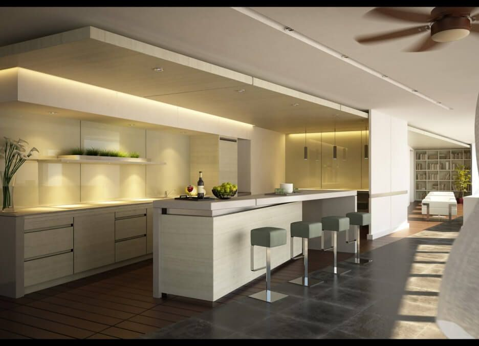 Kitchen without upper cabinets kitchen ideas modern for Siti di interior design