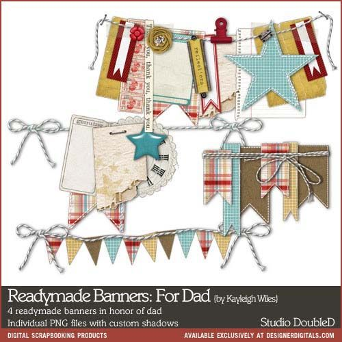 Readymade Banners: For Dad- Studio Double-D Elements- EL626782- DesignerDigitals