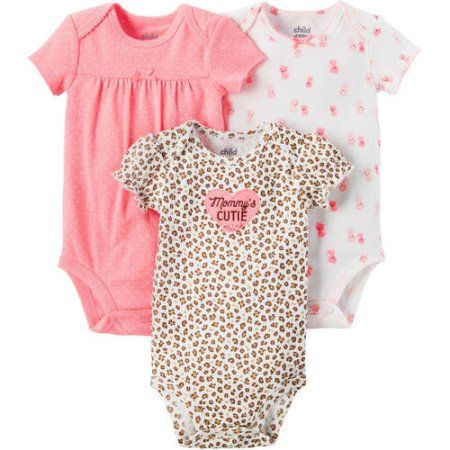329491089 Free 2-day shipping on qualified orders over $35. Buy Newborn Baby Girl 3  Pack Bodysuit at Walmart.com. Child of Mine by Carter's ...