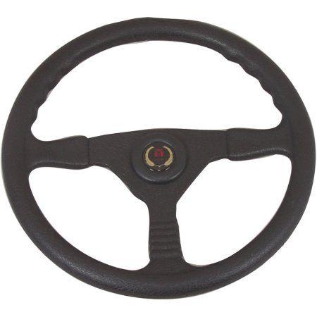 SeaStar Solutions Champion 13.5 inch Steering Wheel, Black