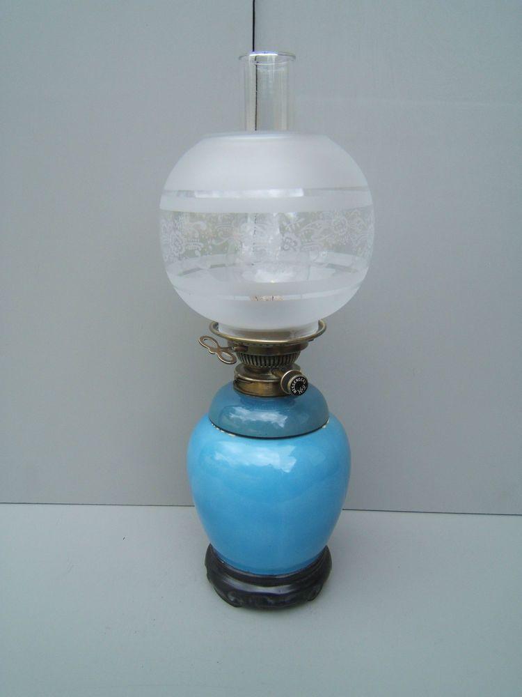 Details About Oil Lamp Messenger S No 2 Key Lift Not Hinks Ceramic Base Clear Globe Ol27 Oil Lamps Ceramic Base Oils