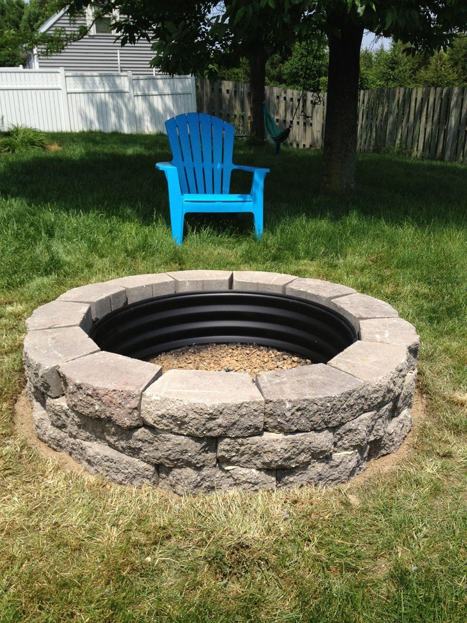 Easy DIY Landscape Ideas Fire pit backyard, Backyard