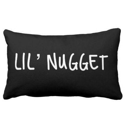 Little Nugget Lumbar Pillow   Zazzle.com   Monogram throw ...