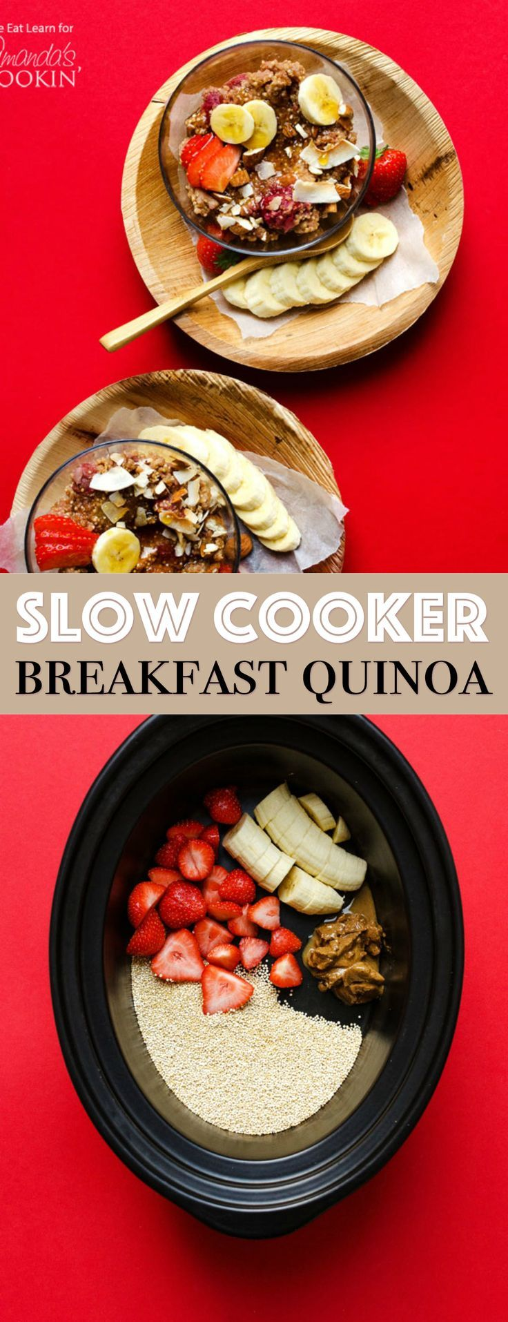 Photo of Breakfast Quinoa in the Slow Cooker: an easy,
