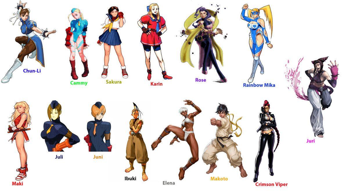 street fighter women | Street Fighter girls by Algono