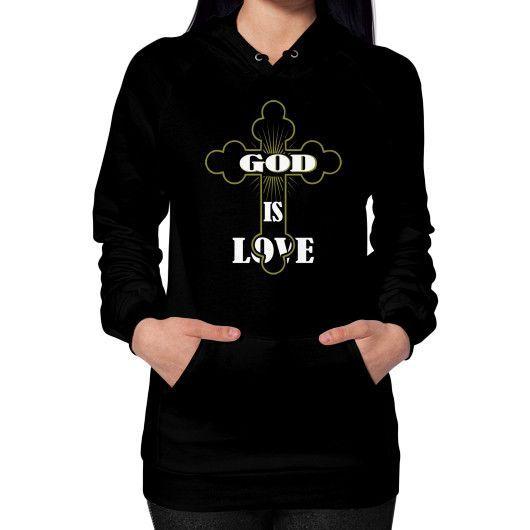 God is love Hoodie (on woman)