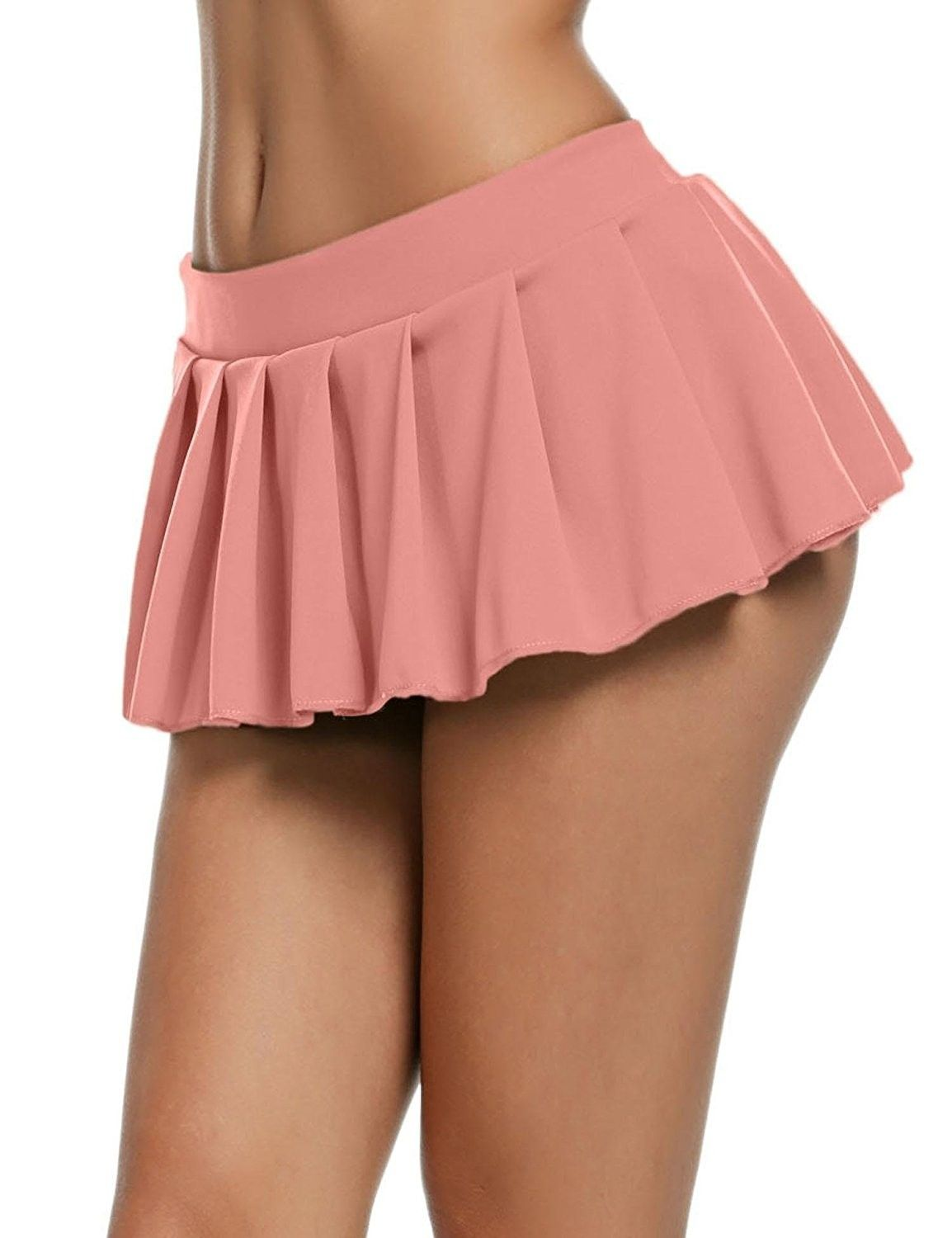 e8e463cdb79e3 Women Schoolgirl Pleated Sexy Mini Cosplay Skirt Ruffle Lingerie ...