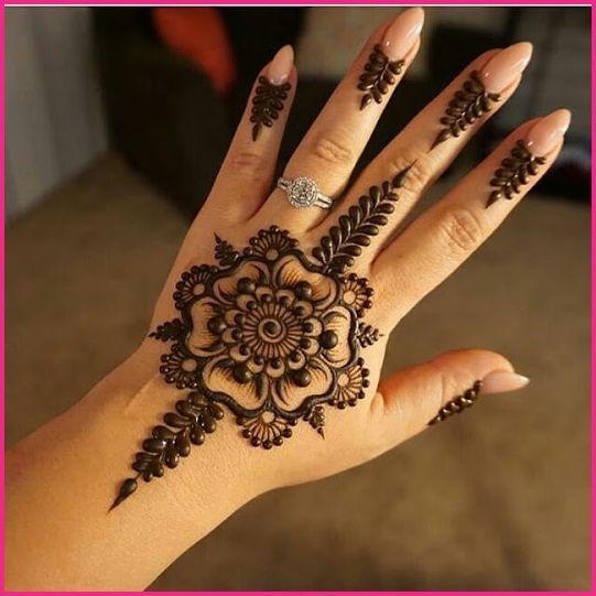 Easy Round Design Gol Tikka Mehndi For Hands 2020 Henna Flower Designs Henna Tattoo Designs Mehndi Designs For Hands