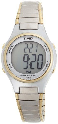 413649b01 Timex Women's T2N313 Core Digital Two-Tone Expansion Band Watch Timex.  $34.95. Indiglo® Night-Light. Time (12/24 hour formats), date, chronograph,  ...