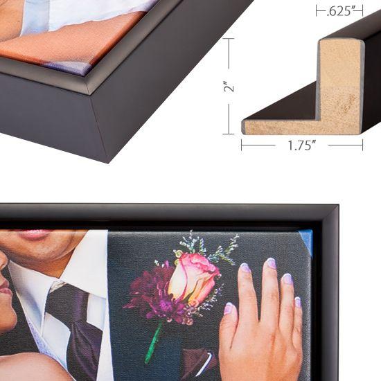 Black Slim Float Frame | Floating Frame | Pinterest | Wraps