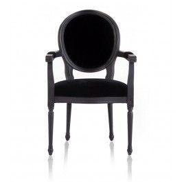 Beautiful Louis Black Armchair $349 Images